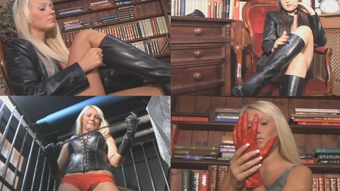 blonde-girl-in-leather-boots-pulling