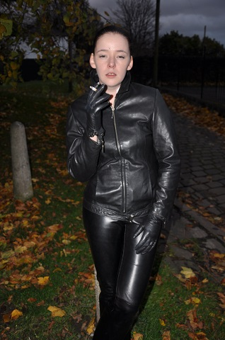 pretty cheap los angeles discount shop Girls in leather pants with leather gloves leather boots ...