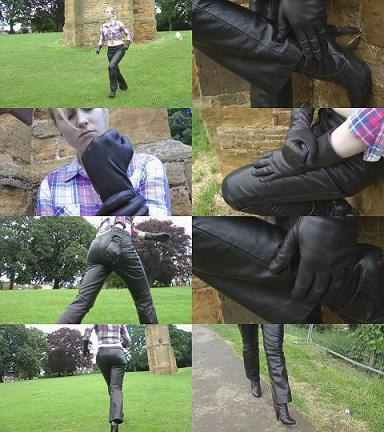 putting-on-leather-gloves-fist-leather-pants-boots